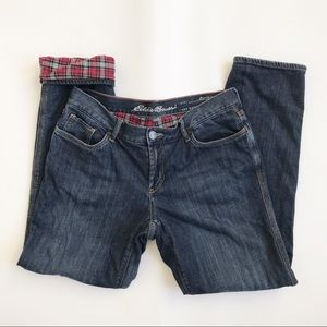 Eddie Bauer Flannel Lined Boyfriend Relaxed Jeans